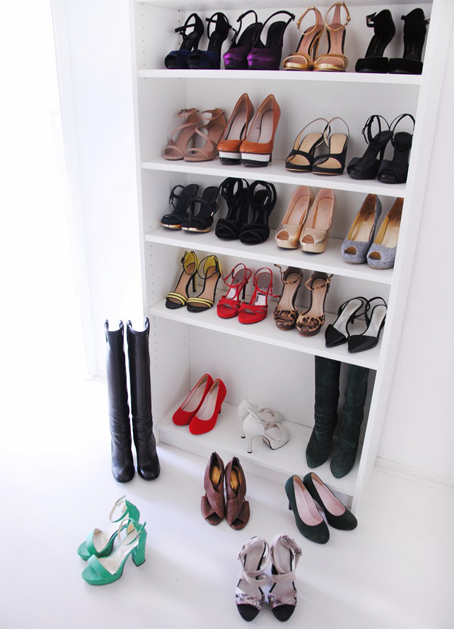 ikea-billy-bookshelf-diy-shoes-heels-display