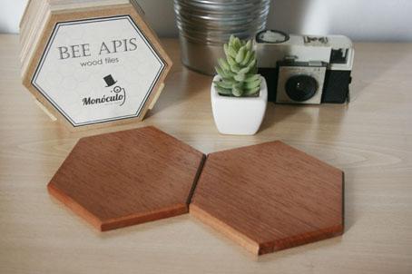 Bee Apis houten tegels